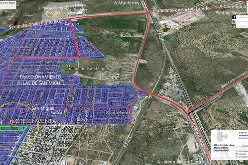 Nuevo Laredo, Tamaulipas. Villas de San Miguel, Lote urbanizado