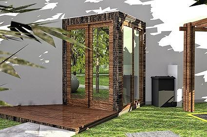 Terraza para jardín exterior