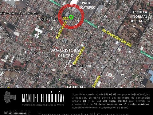 Ecatepéc. Construcción con 3 departamentos y autolavado