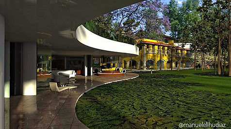 Diseño de teho verde y arquitectura orgánica Jarínes del Pedregal
