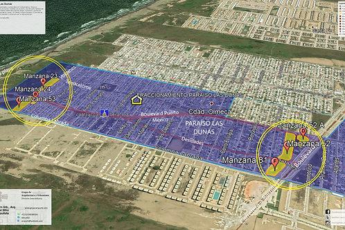 Coatzacoalcos, Veracruz. Paraíso Las Dunas, terrenos habitacional y comercial
