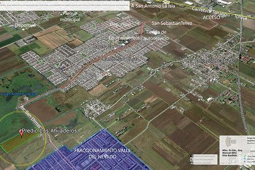 Calimaya, Estado de México. Los Ahijaderos, terreno urbanizado