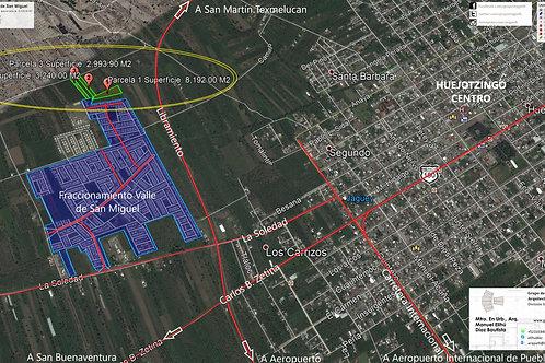 Huejotzingo, Puebla. Valle de San Miguel, 3 terrenos en breña