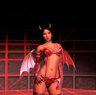 A devilish girl