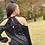 Thumbnail: Front Tie Cold Shoulder Blouse