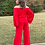 Thumbnail: Off The Shoulder Red Jumpsuit