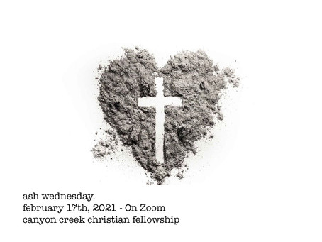 Ash Wednesday Service - This Wednesday at 7:00pm