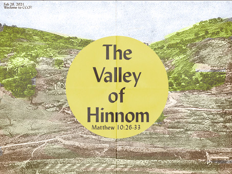 Podcast:  The Valley of Hinnom