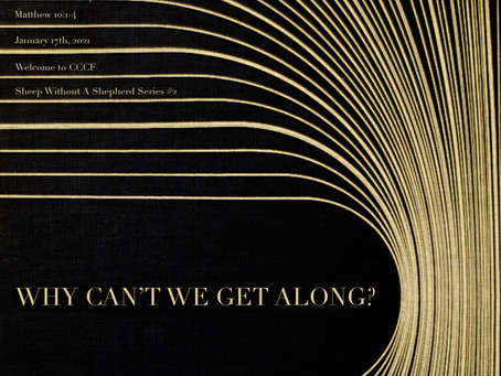 Why Can't We Get Along - All You Need To Know for Sunday