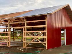 Pole Barn In Progress