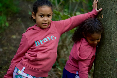 Kids 'brave.' hoodie