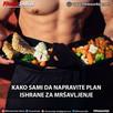 Kako sami da napravite plan ishrane za mršavljenje