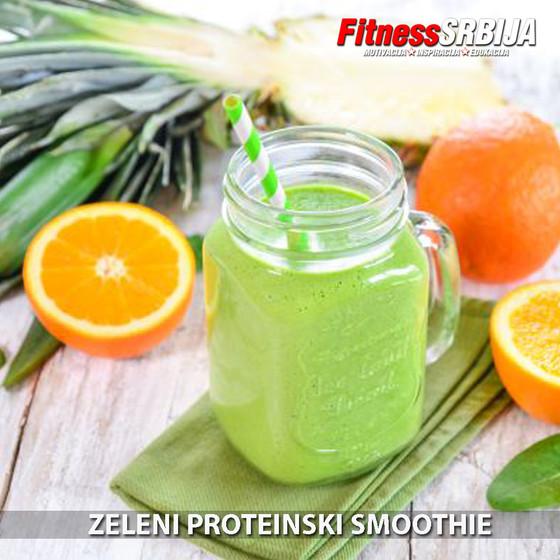 Kremasti zeleni proteinski smoothie
