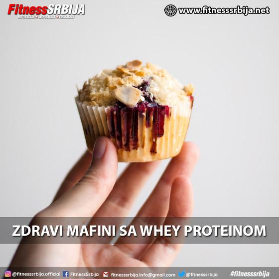 Zdravi mafini sa whey proteinom