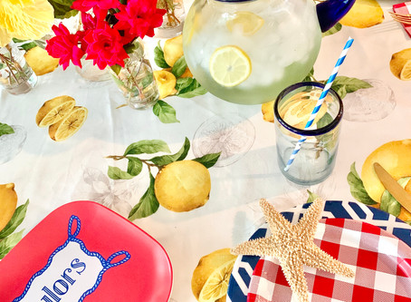 Pretty with Paper! Easy Summer Tablescape