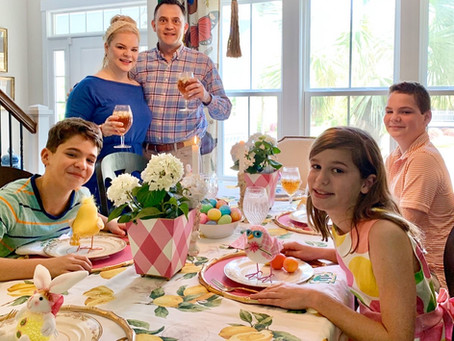 #StayHome with a Bright & Cheery Easter Table Setting