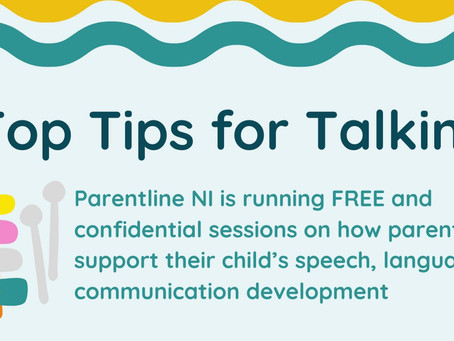Parentline NI is running FREE sessions on how parents can support their child's speech development.