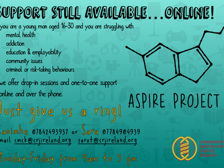 ASPIRE PROJECT - Online support for young men aged 16-30