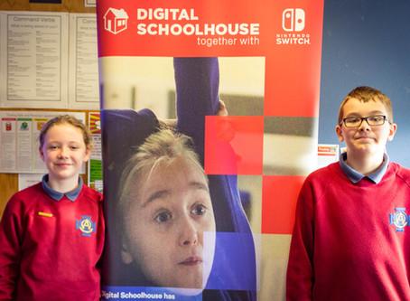St Oliver Plunkett visit the Digital School House at De La Salle