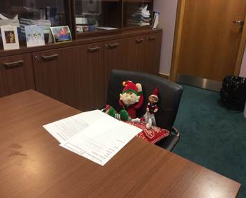 La Sallian Elves take over the Principal's office!