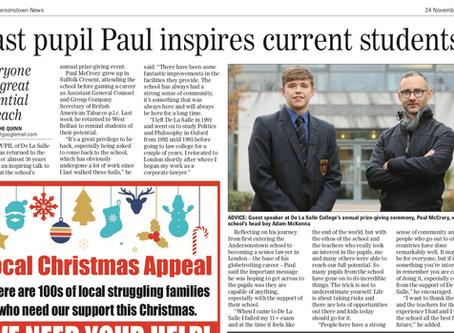 Past pupil Paul inspires current students