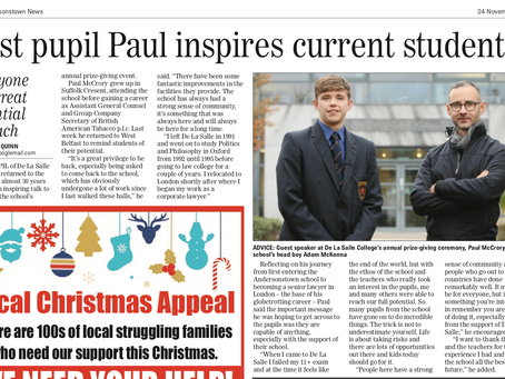 Past pupil Paul inspires current students