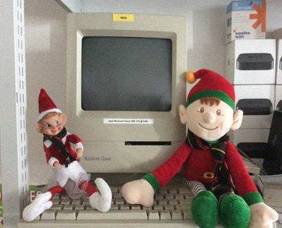The Elves up to their lark!