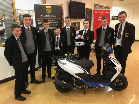 De La Salle takes delivery of a brand new Moped