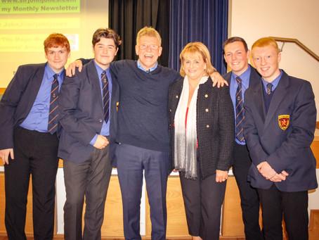Sir John Jones visits De La Salle to address the West Belfast Area Learning Community