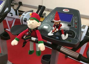 The Elves visit the P.E department