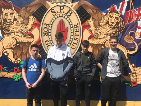 De La Salle Year 11 GCSE History pupils tour the Falls and Shankill