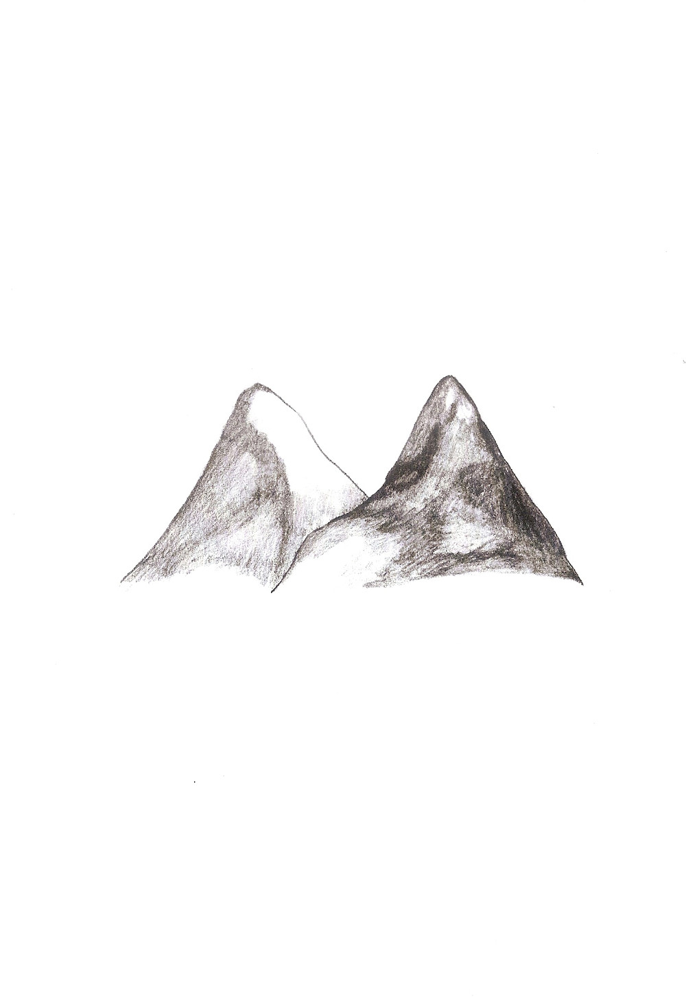 Tow Mountains_22.7x15.8cm_drawing on the paper.2012.jpg