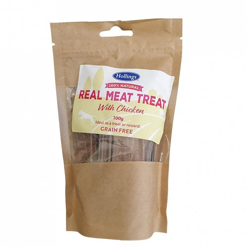 Hollings 100% Natural real meat treat with Chicken 100g