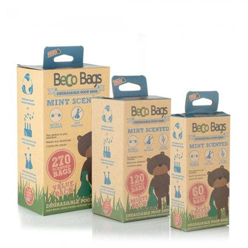 Beco Pet Mint Scented Degradable Poop Bags