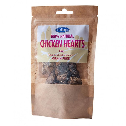 Hollings 100% Natural Chicken Hearts 60g