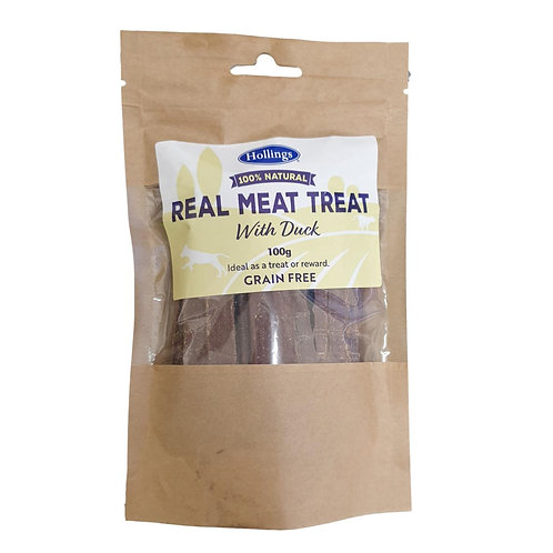 Hollings 100% Natural Real Meat Treat with Duck 100g