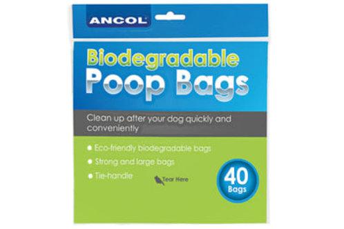 Ancol Biodegradable Poop Bags 40pk