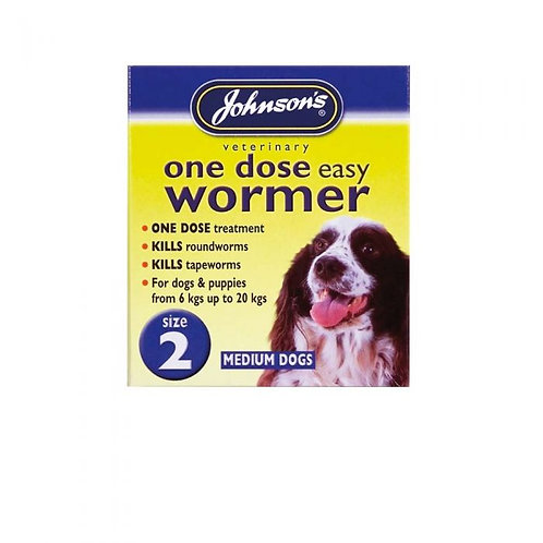 Johnsons one dose wormer. Size 2. Two tablets.