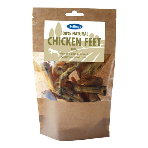 Hollings 100% Natural Chicken Feet Dog Treat