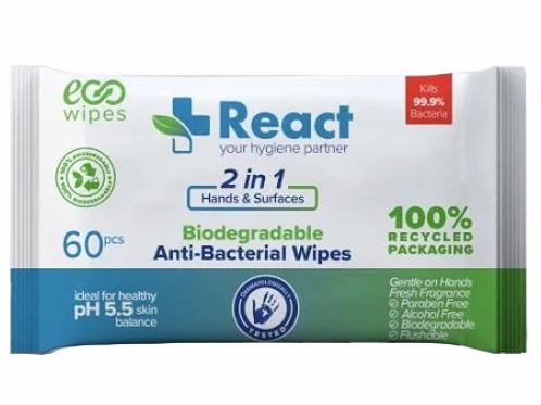 React Antibacterial wipes