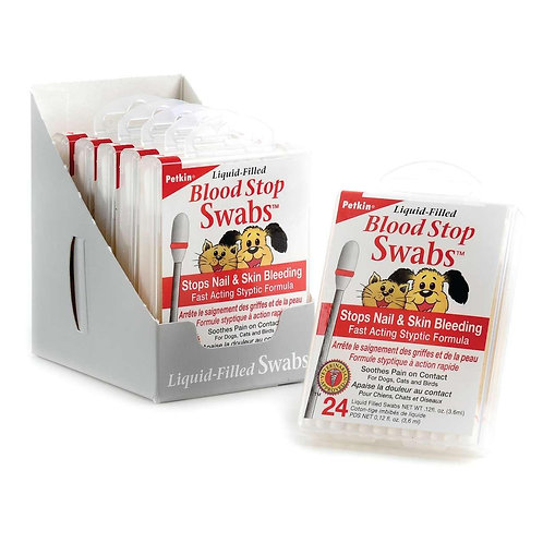 Petkin Blood Stop Styptic Powder Swabs for Dogs & Cats