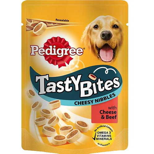 Pedigree Tasty Minis Cheesy and Beef  Nibbles 140g