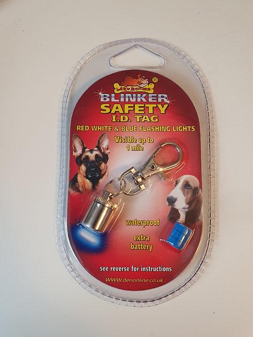 Lazy bones. Blinker safety I.D. tag
