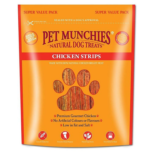 Pet Munchies Chicken Strips Super Value Pack Natural Dog Treats - 320g
