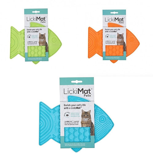 LickiMat Felix, Cat toy, slow feeder, brain stimulus
