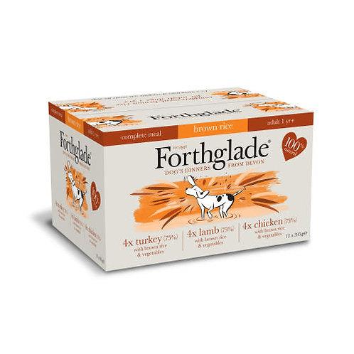 Forthglade - Brown Rice, Turkey, Lamb & Chicken - Variety Pack (12x395g)