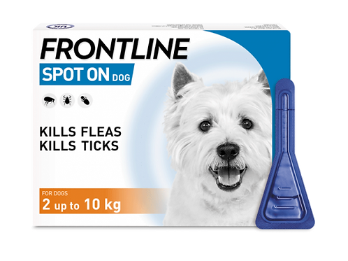FRONTLINE Spot On Flea & Tick Treatment Small Dog (2-10kg).