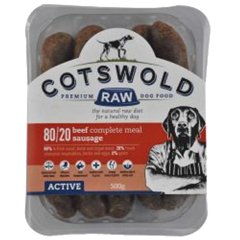 Cotswold Raw Active Sausage