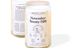 Personalized Birthdate Candles