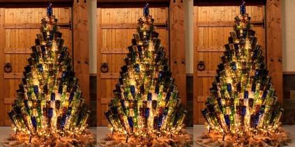 Wine Bottle XMas Trees